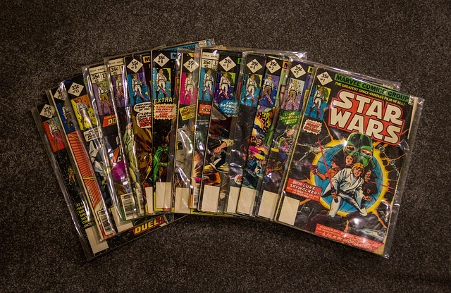 A collection of Star Wars comics